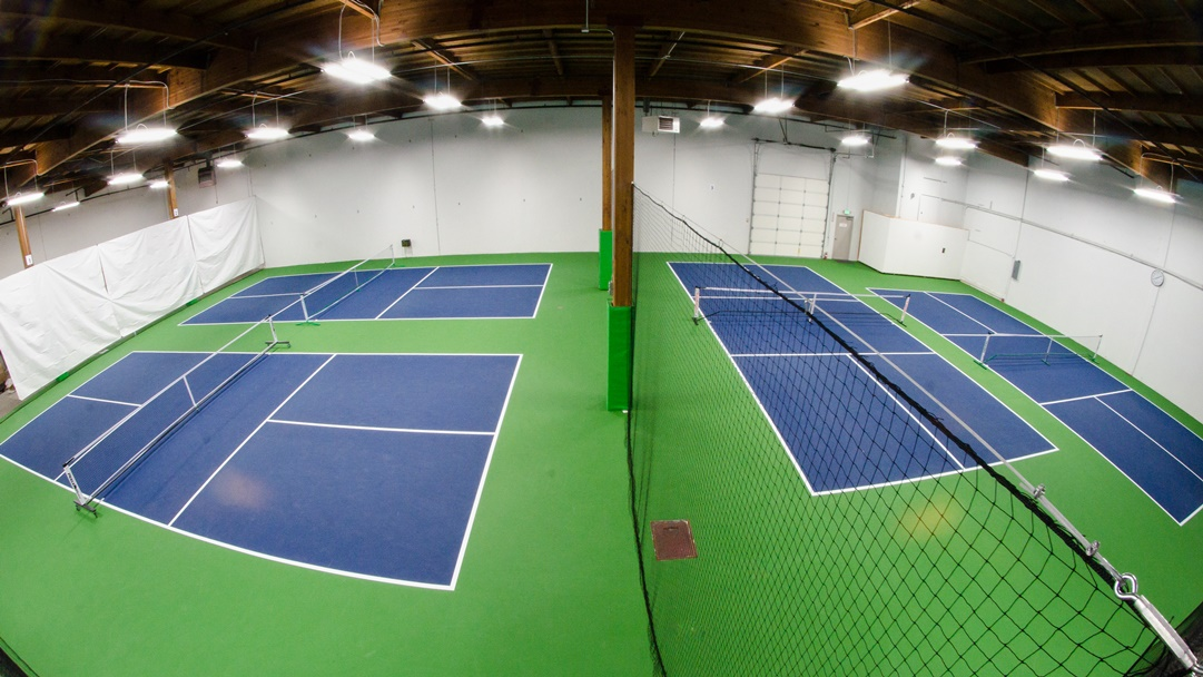 Four Legal Dimension 44' x 20' Pickleball Courts