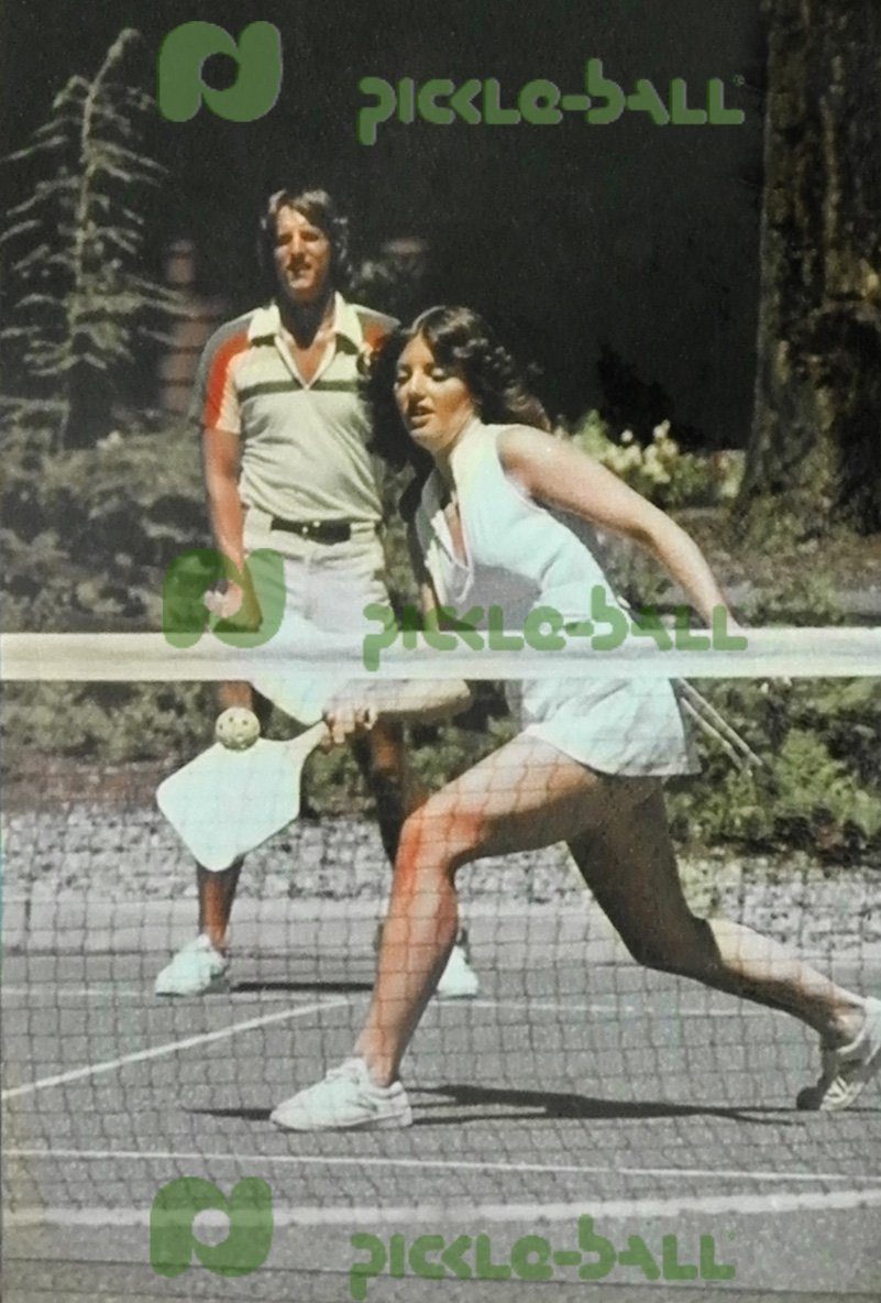 Dave Kathol and Kate McCallum playing Pickleball in Bainbridge Island.