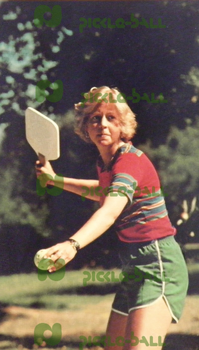 Melene Anderson Playing Pickleball Circa 1970s