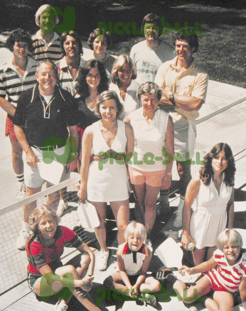 The Pickleball Gang on Bainbridge in the early 1970s.
