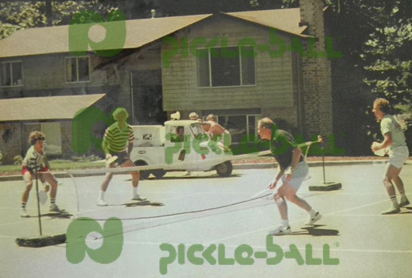The McCallums playing Pickleball in the 70s.